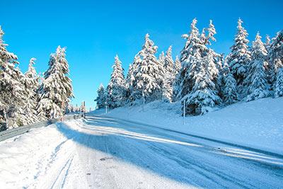 Sneeuw Fichtelberg